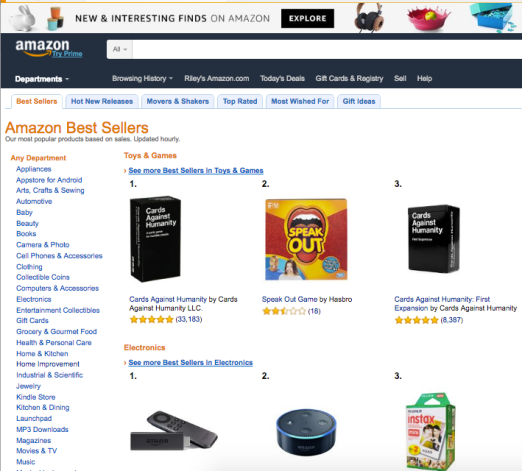 amazon best sellers page - fba private label - livin that lfie